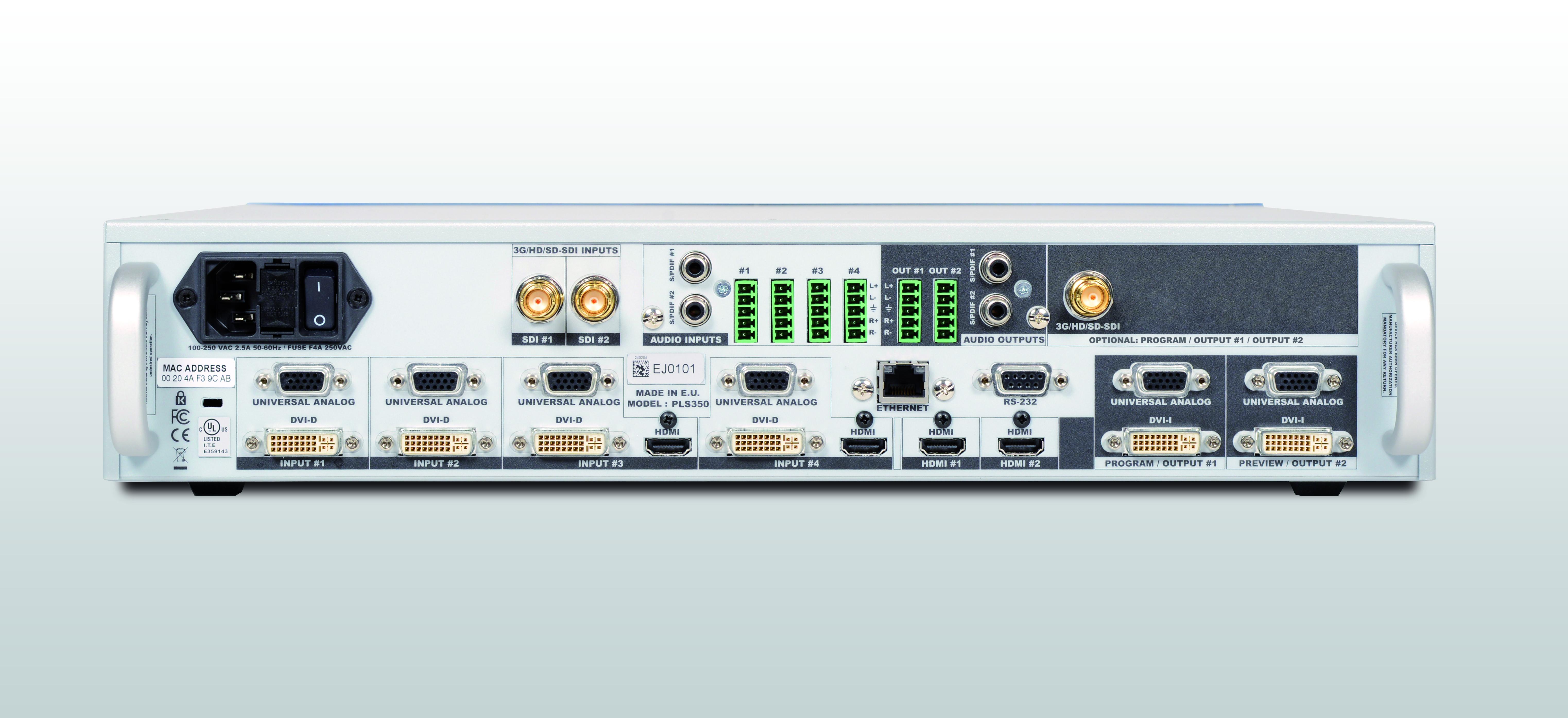 Pulse 3g Midra 3 Way Video Switch Box Pls350 Rear Panel Picture 2015 09 22